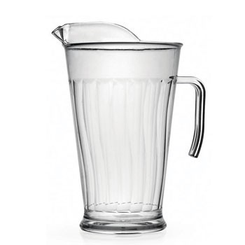 Fineline Settings 3402 Platter Pleasers Clear Heavy Duty Plastic Pitcher 60 oz. - 1 doz