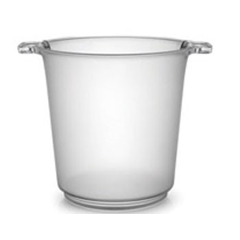 Fineline Settings 3403 Platter Pleasers Plastic Ice Bucket 1 Gallon - 1/2 doz