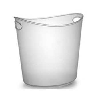 Fineline Settings 3404 Platter Pleasers Plastic Oval Ice Bucket 1 Gallon - 1/2 doz
