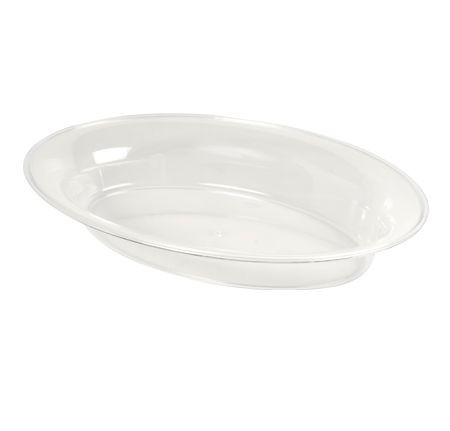 Fineline Settings 3514 D Platter Pleasers Plastic Oval Tray 14