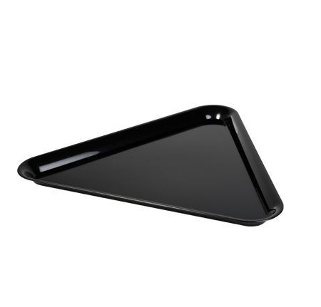 "Fineline Settings 3561 Platter Pleasers Triangle Plastic Serving Tray 16"" x 16"" x 16"" - 20 pcs"