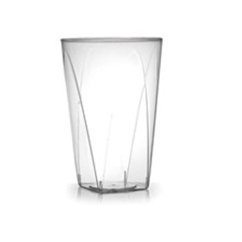 Fineline Settings 410SB Savvi Serve Clear Plastic Square Bottom Tumbler 10 oz. - 500 pcs