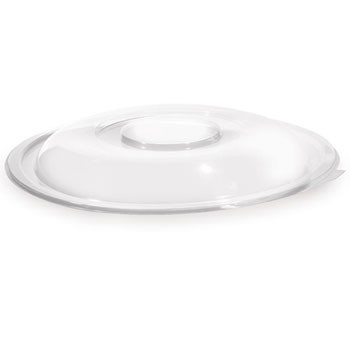 Fineline Settings 5024-L 34 oz. Super Bowl Clear Dome Lid - 100 pcs