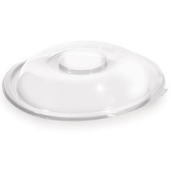 Fineline Settings 5048-L 48 oz. Super Bowl Clear Dome Lid - 50 pcs