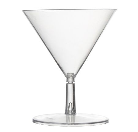 Fineline Settings 6401  2 oz. Tiny Temptations Tiny 2-Piece Plastic Martini Glass - 10 doz