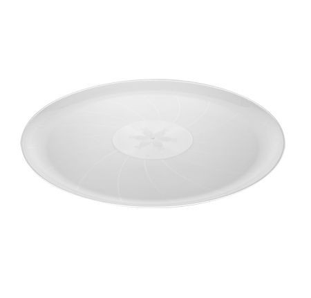 """Fineline Settings 8401 Platter Pleasers Classic Round Plastic Serving Tray 14"""" - 25 pcs"""