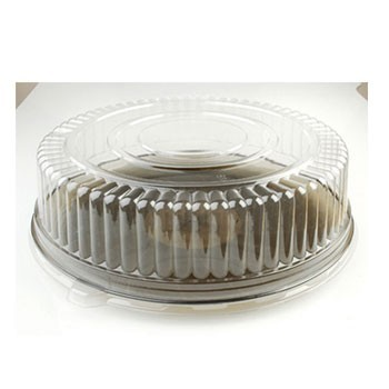 "Fineline Settings 9201-L Platter Pleasers Clear Plastic High Dome Lid 12"" - 25 pcs"
