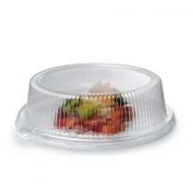 Fineline-Settings-9209-L--Platter-Pleasers-Clear-Dome-Plastic-Plate-Lid-for-9--Plate---120-pcs