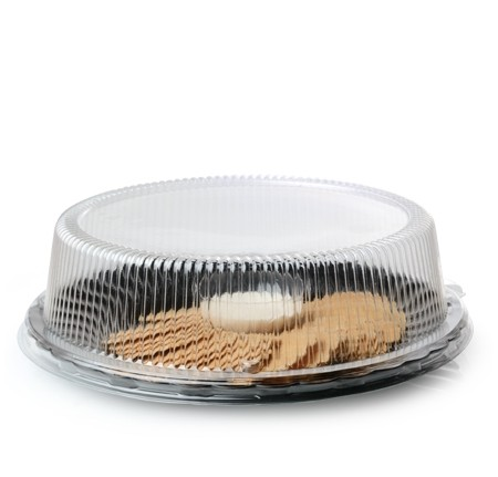 Fineline Settings 9210-L  Platter Pleasers Clear Dome Plastic Plate Lid for 10