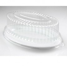 Fineline Settings 9511-L Platter Pleasers Clear Plastic Oval Dome Lid 11