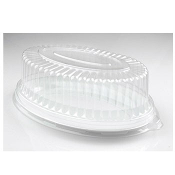 Fineline Settings 9515-L Platter Pleasers Clear Plastic Oval Dome Lid 8