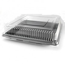 Fineline Settings 9516-L Platter Pleasers Clear Plastic Square Dome Lid 16