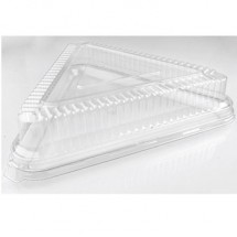 Fineline Settings 9561-L Platter Pleasers Clear Plastic Triangle Dome Lid 16