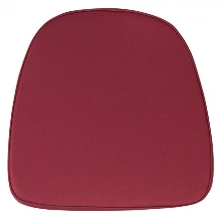 Flash Furniture BH-BURG-GG Chiavari Chair Cushion with Soft Burgundy Fabric