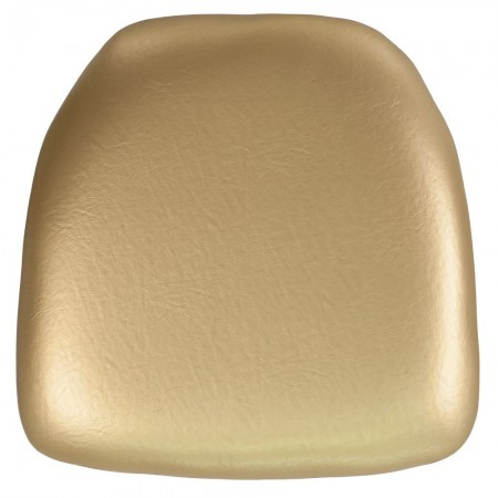BH-GOLD-HARD-VYL-GG Chiavari Chair Cushion, Hard Gold Vinyl