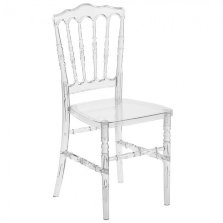 Flash Furniture BH-H002-CRYSTAL-GG Elegance Crystal Ice Napoleon Stacking Chair
