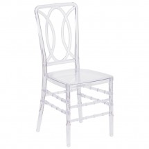 Flash Furniture BH-H007-CRYSTAL-GG Elegance Crystal Ice Stacking Chair with Circle Design