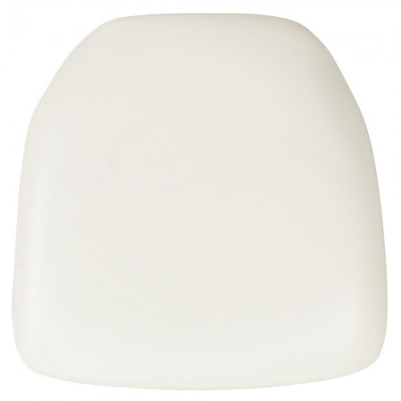 BH-WH-HARD-VYL-GG Chiavari Chair Cushion, Hard White Vinyl
