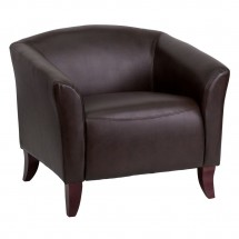 Flash Furniture 111-1-BN-GG HERCULES Imperial Series Brown Leather Chair