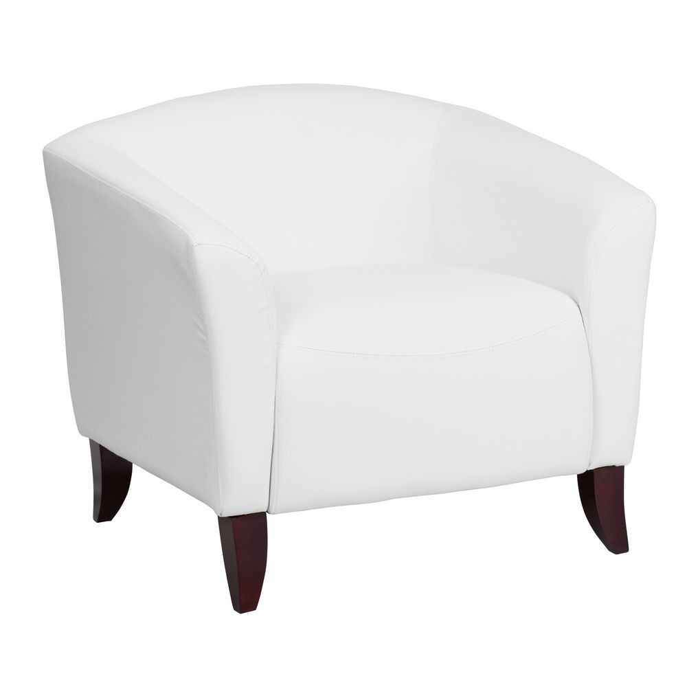 Flash Furniture 111-1-WH-GG HERCULES Imperial Series White Leather Chair