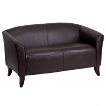 Flash Furniture 111-2-BN-GG HERCULES Imperial Series Brown Leather Love Seat