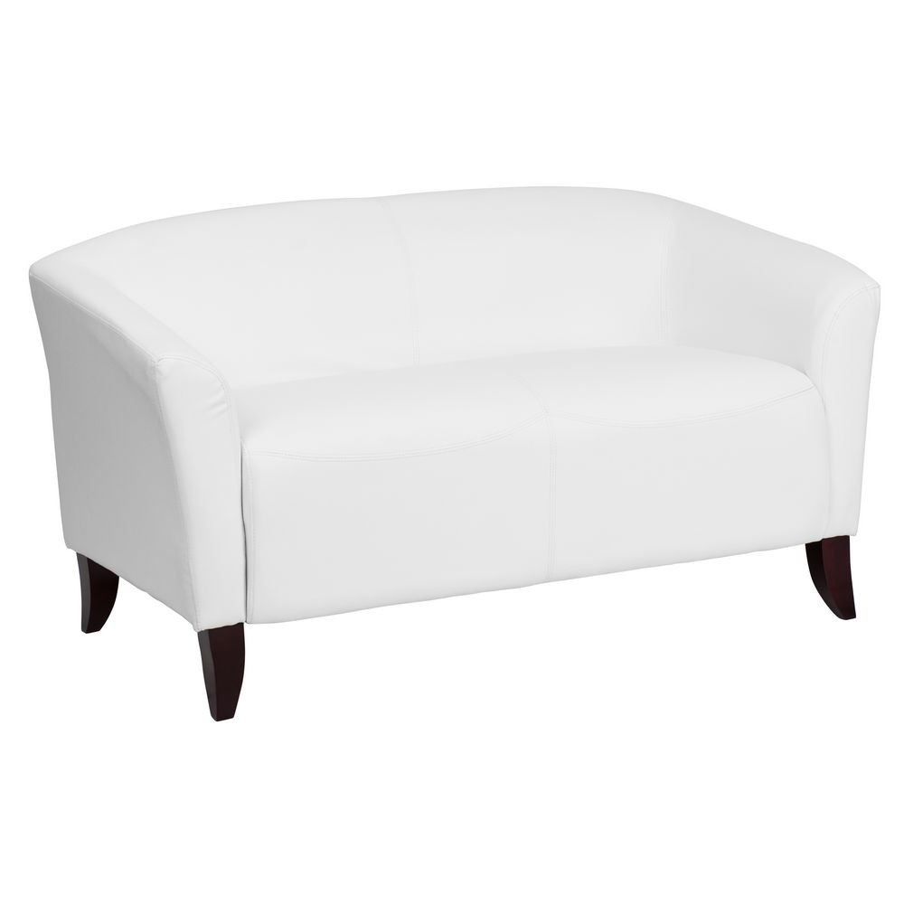 Flash Furniture 111-2-WH-GG HERCULES Imperial Series White Leather Love Seat