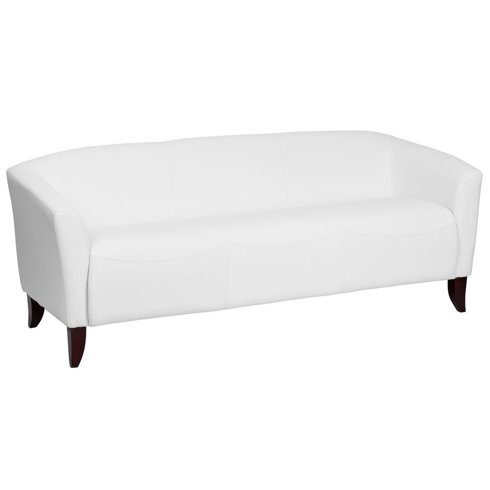 Flash Furniture 111-3-WH-GG HERCULES Imperial Series White Leather Sofa