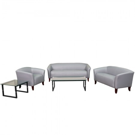 Flash Furniture 111-SET-GY-GG HERCULES Imperial Series Gray Reception Set