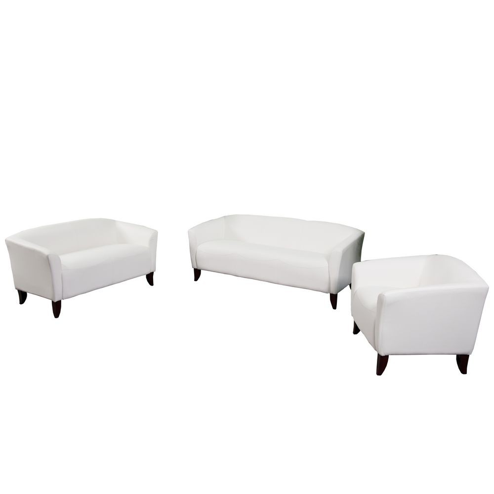 Flash Furniture 111-SET-WH-GG HERCULES Imperial Series Reception Set in White