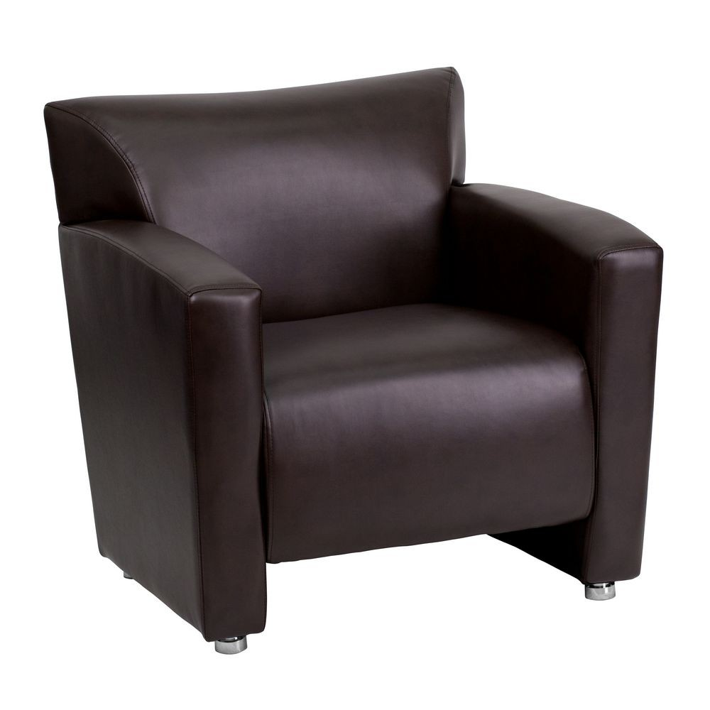 Flash Furniture 222-1-BN-GG HERCULES Majesty Series Brown Leather Chair
