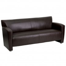 Flash Furniture 222-3-BN-GG HERCULES Majesty Series Brown Leather Sofa