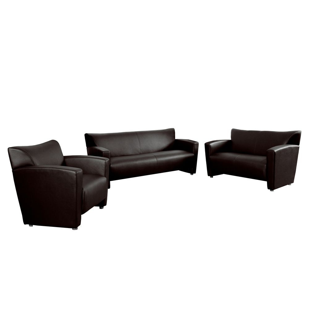 Flash Furniture 222-SET-BN-GG HERCULES Majesty Series Contemporary Reception Set in Brown