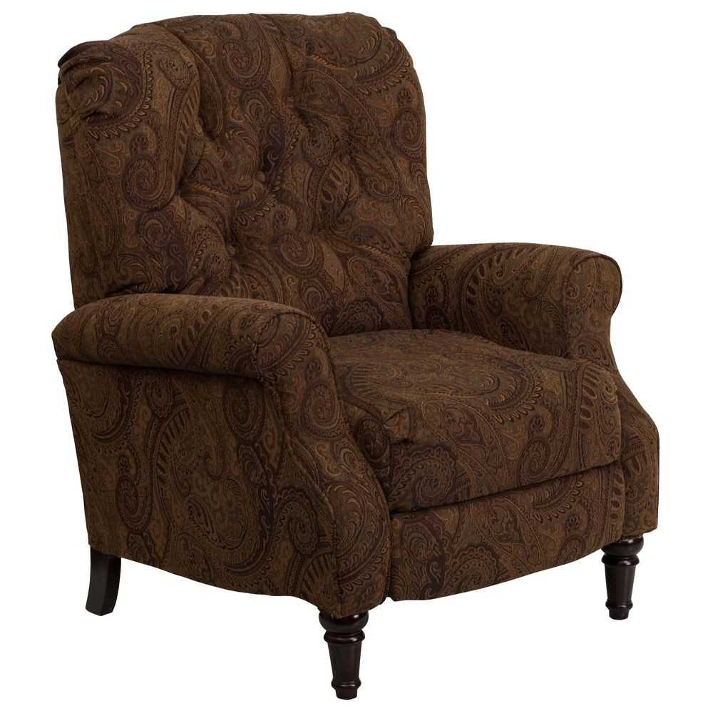 Flash Furniture AM-2650-6370-GG Traditional Tobacco Fabric Tufted Hi-Leg Recliner