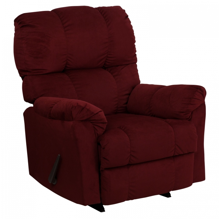 Flash Furniture AM-9320-4170-GG Contemporary Top Hat Berry Microfiber Rocker Recliner