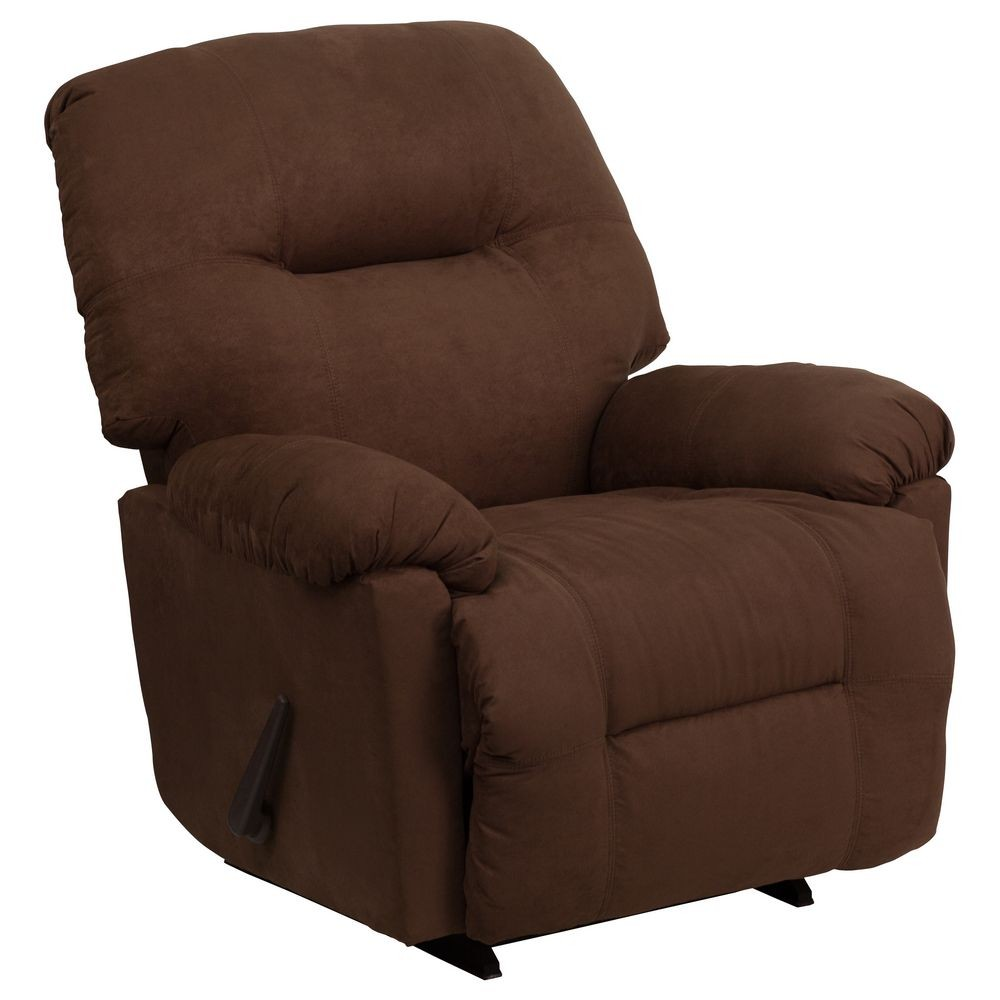 Flash Furniture AM-C9350-2550-GG Contemporary Calcutta Chocolate Microfiber Chaise Rocker Recliner