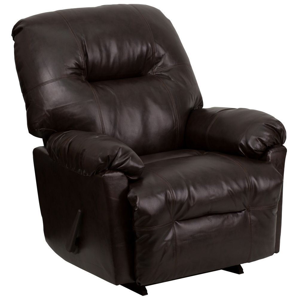 Flash Furniture AM-C9350-9075-GG Contemporary Bentley Brown Leather Chaise Rocker Recliner