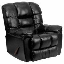 Flash Furniture AM-C9550-4801-GG Contemporary New Era Black Leather Chaise Rocker Recliner