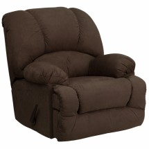 Flash Furniture AM-C9700-7901-GG Contemporary Glacier Brown Microfiber Chaise Rocker Recliner