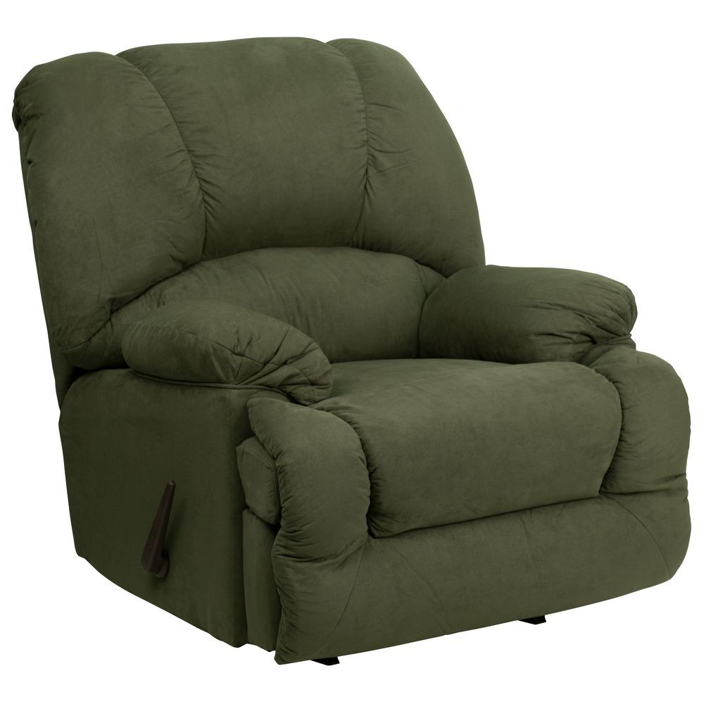 Flash Furniture AM-C9700-7903-GG Contemporary Glacier Olive Microfiber Chaise Rocker Recliner