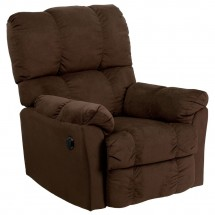 Flash Furniture AM-P9320-4171-GG Contemporary Top Hat Chocolate Microfiber Power Recliner