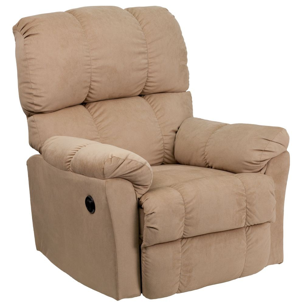 Flash Furniture AM-P9320-4172-GG Contemporary Top Hat Coffee Microfiber Power Recliner