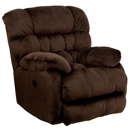 Flash Furniture AM-P9460-5980-GG Contemporary Sharpei Chocolate Microfiber Power Recliner