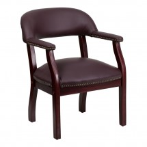 Flash Furniture B-Z105-LF19-LEA-GG Burgundy Leather Conference Chair