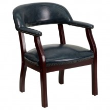 Flash Furniture B-Z105-NAVY-GG Navy Vinyl Luxurious Conference Chair