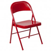 Flash Furniture BD-F002-RED-GG HERCULES Double Braced Red Metal Folding Chair