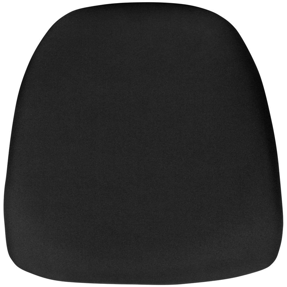 Flash Furniture BH-BLACK-HARD-GG Hard Black Fabric Chiavari Chair Cushion for Crystal / Resin Chiavari Chairs