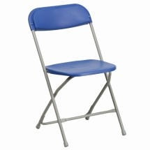 Flash Furniture BH-D0001-BL-GG HERCULES Series Capacity 440 Lbs. Premium Blue Plastic Folding Chair