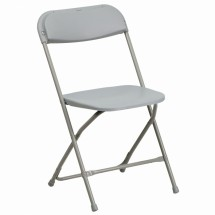 Flash Furniture BH-D0001-GY-GG HERCULES Series Capacity 440 Lbs. Premium Gray Plastic Folding Chair