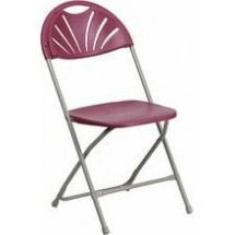 Flash Furniture BH-D0002-BG-GG HERCULES Series Capacity 440 Lbs. Burgundy Plastic Fan Back Folding Chair