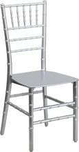 Flash Furniture BH-SV-RESIN-GG Flash Elegance Silver Resin Stacking Chiavari Chair